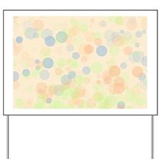 Pastel Dots Yard Sign