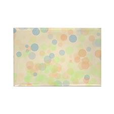Pastel Dots Rectangle Magnet