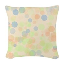 Pastel Dots Woven Throw Pillow