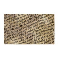 Poe Raven Text Pattern 3'x5' Area Rug