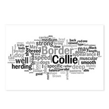 Cute Border collie Postcards (Package of 8)
