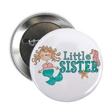 "Mermaid Little Sister 2.25"" Button (100 pack)"