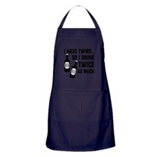 DRINK TWICE AS MUCH Apron (dark)