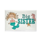 Mermaid Big Sister Rectangle Magnet