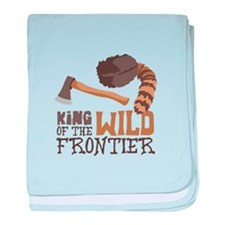 King of the Wild Frontier baby blanket