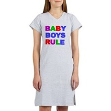 BABY BOYS RULE Women's Nightshirt