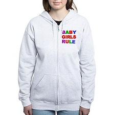 BABY GIRLS RULE Zip Hoodie