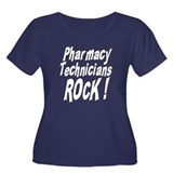 Pharmacy Techs Rock ! Women's Plus Size Scoop Neck