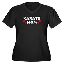 Karate Mom Women's Plus Size V-Neck Dark T-Shirt