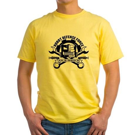 Strk3 Robot Defense Force Yellow T-Shirt