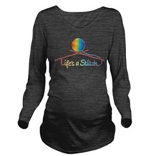 lifes_stitch.png Long Sleeve Maternity T-Shirt