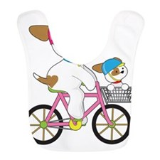 Cute Puppy on Bike Bib