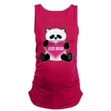 panda heart cp.png Maternity Tank Top