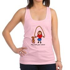 Dachshund - Play with your wiener - girl Racerback