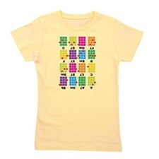 Uke Chord Cheat Tee Colorful Girl's Tee