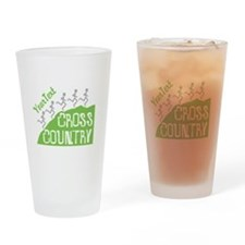 Customize Cross Country Runners Drinking Glass