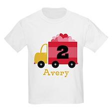 Personalized 2nd Birthday Valentine Truck T-Shirt
