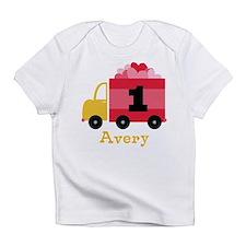 Personalized 1st Birthday Valentine Truck Infant T