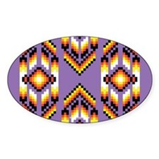 Native American Design Purple Decal
