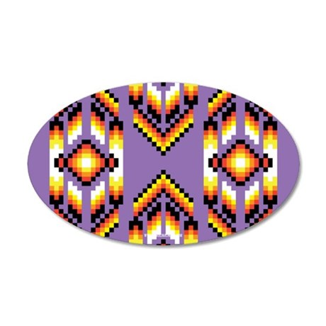 Native American Design Purple Wall Decal