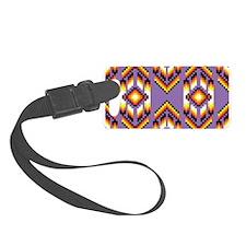 Native American Design Purple Luggage Tag