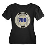 Lifelist Women's Plus Size Scoop Neck Dark T-Shirt