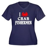Crab Fishermen Women's Plus Size V-Neck Dark Tee