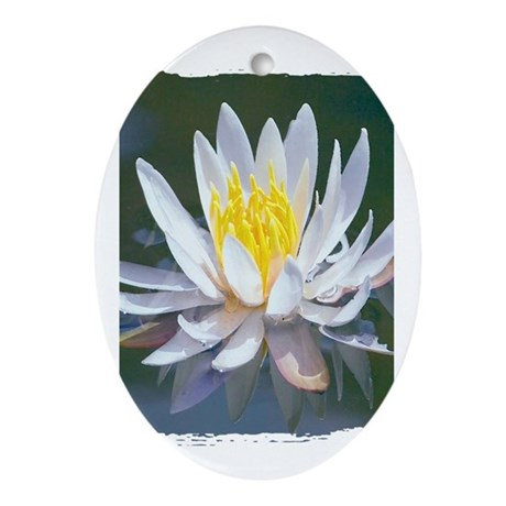 Lotus Blossom Oval Ornament