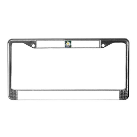 Lotus Blossom License Plate Frame
