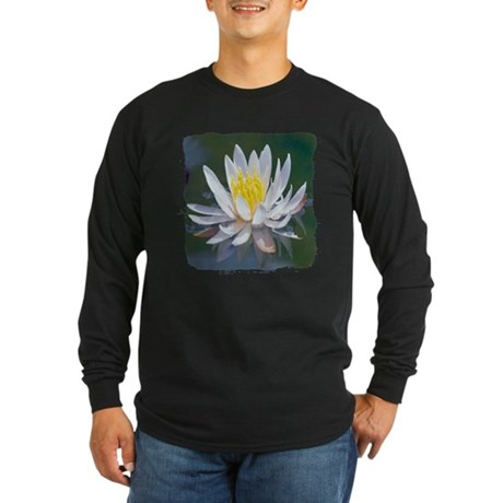Lotus Blossom Long Sleeve Dark T-Shirt