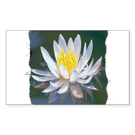 Lotus Blossom Rectangle Sticker