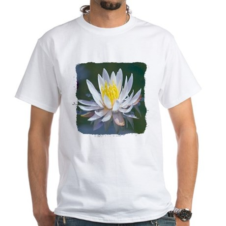 Lotus Blossom White T-Shirt