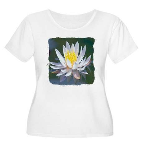 Lotus Blossom Women's Plus Size Scoop Neck T-Shirt