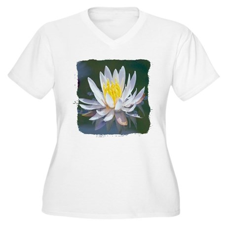 Lotus Blossom Women's Plus Size V-Neck T-Shirt