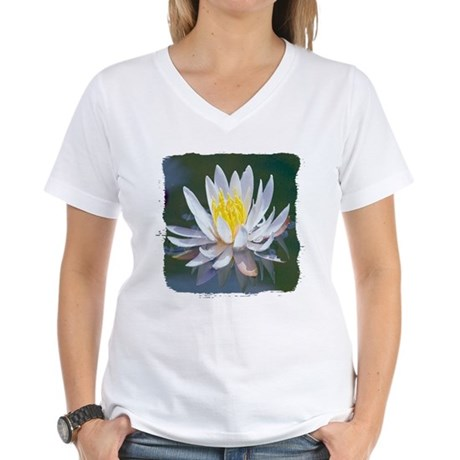 Lotus Blossom Women's V-Neck T-Shirt