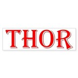 The Thor One Store Bumper Car Sticker