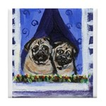 Pugs want out Tile Coaster