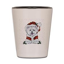 Santas Westie Helper Shot Glass