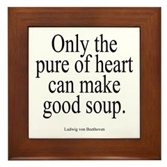Beethoven Good Soup Framed Tile
