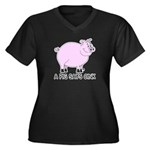 A Pig Says Oink Women's Plus Size V-Neck Dark T-Sh