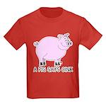 A Pig Says Oink Kids Dark T-Shirt