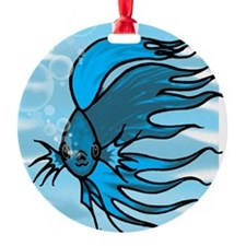 Blue Betta Ornament