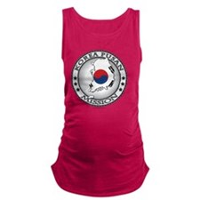 Korea Pusan LDS Mission Flag Cu Maternity Tank Top