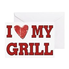 I love my Grill Greeting Card