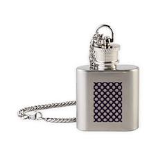 Clamshells 5x7 W Dk Purple Flask Necklace