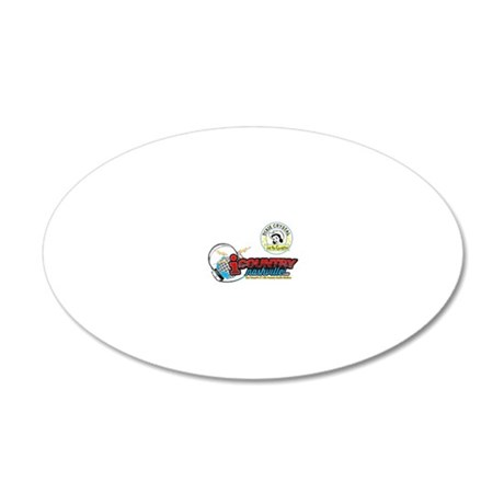 Dixie Crystal Retro Distress 20x12 Oval Wall Decal