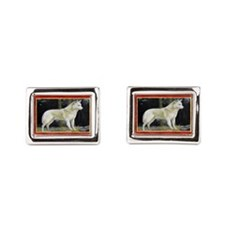 Canaan Dog Christmas Cufflinks