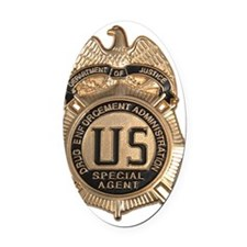 dea badge Oval Car Magnet