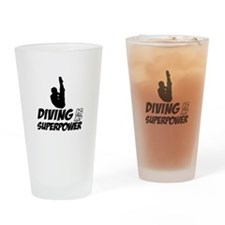 diving is my superpower Drinking Glass