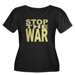 Stop The War Women's Plus Size Scoop Neck Dark T-S